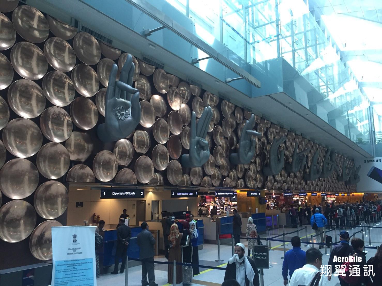 新德里機場-手掌們