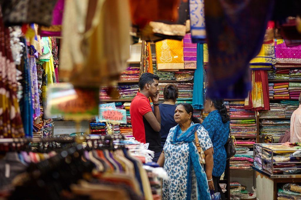 印度紡織市集