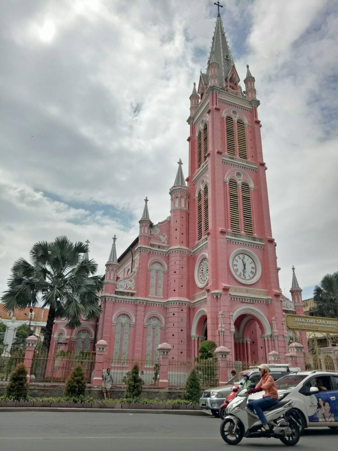 越南粉紅教堂全景