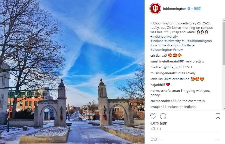 印第安納大學雪景