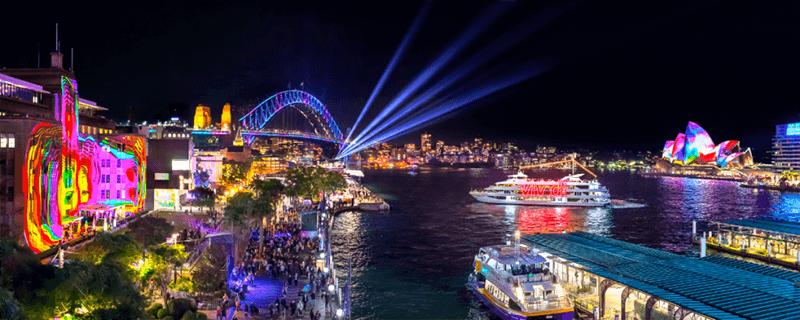 雪梨歌劇院燈光秀