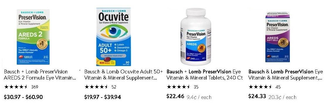 必買維他命-Bausch & Lomb PreserVision AREDS 2 Multi Vitamins