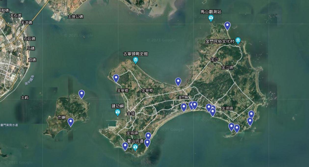 金門藍眼淚觀賞地點一覽地圖