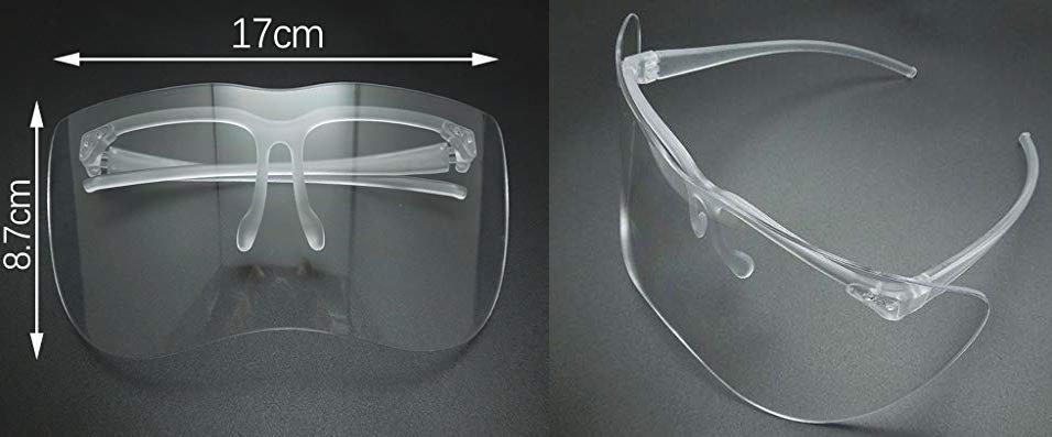 半截式 防護面罩 預防口水飛沫感染 預防手觸臉部感染 防疫專用